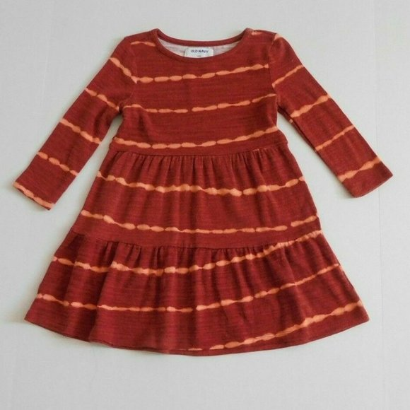 NWT Old Navy Tiered Tie Dye Long Sleeve Dress